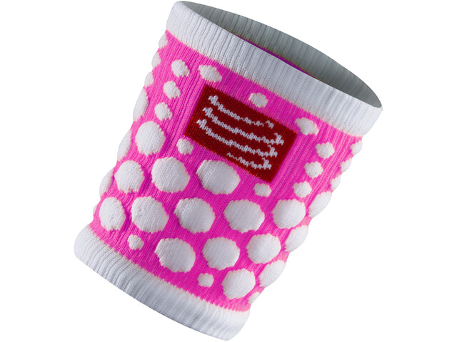 Compressport 3D Dots Sweatbands fluo pink